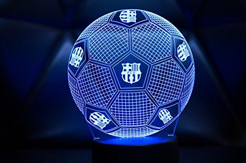 3D LAMPARAS Oficial Balon del FC Barcelona Lámpara 2019-2020 Pelota de Barça para Bebe niño Kids...