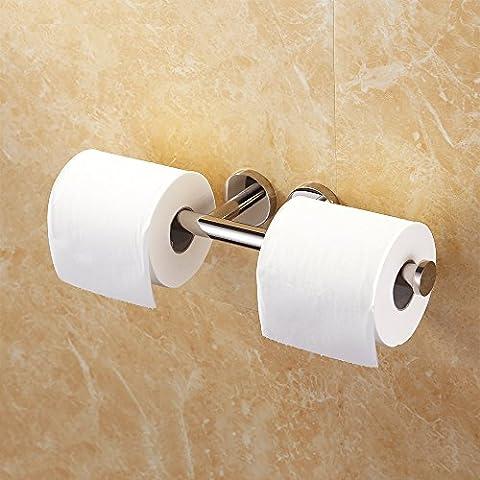 KES Double Roll Toilet Paper Holder Rustproof Wall Mount Dual