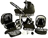 Chilly Kids Dino 3 in 1 Kinderwagen Set 29 Zebra