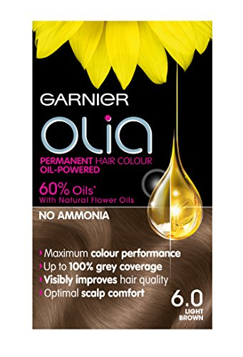 Garnier Olia Permanent Hair Dye, 6.0 Light Brown