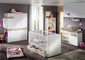 pixi 7 teilig babyzimmer wickelkommode babybett eiche baby. Black Bedroom Furniture Sets. Home Design Ideas