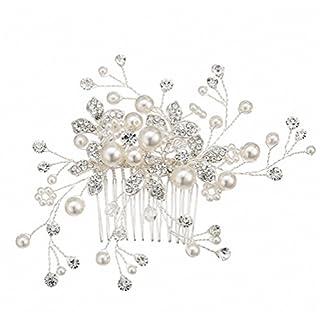 Hair Slide,Abaobao® Vintage Antique Style Trendy Hairwear Women Accessories Wedding Bridal Crystal Rhinestone Flower Faux Pearls Hairpin Diamante Hair Clip Comb Hair Barrette