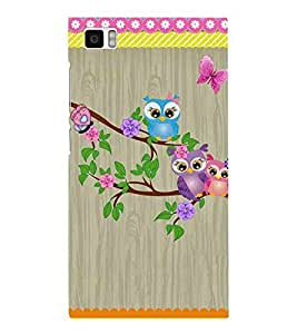 For Xiaomi Mi3 :: Xiaomi Mi 3 pattern, bird, flower, wood background, tree Designer Printed High Quality Smooth Matte Protective Mobile Case Back Pouch Cover by APEX