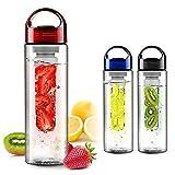 #7: Auslese™ 700ml Sport Fruit Infuser Water Bottle, Transparent Plastic, Detox Drink Juice Bottle-Color May Vary