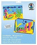Ursus 8410001 - Sandbilder Wasserwelt, 2 Bilder und 10 Packungen, Farbiger Sand
