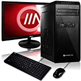 Komplett PC-Paket Ryzen 5 2400G 4X 3.9 GHz, 16 GB DDR4, 240 GB SSD + 2000 GB, Vega 11 Grafik Windows 10 Pro 64bit + 22 Zoll TFT + Tastatur Set + W-LAN Bundle
