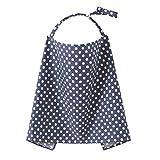 TININNA cotone Asciugamano allattamento al seno nursing Sciarpa per covers mammella allattamento Feeding Sciarpa Profondo blu