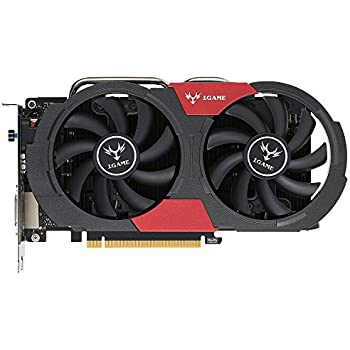 Docooler Colorful NVIDIA GeForce GTX iGame 1050Ti GPU 4GB 128bit Gaming 4096M PCI-E X16 3.0 Vídeo Tarjeta Gráfica DP del Puerto DVI + HDMI + con dos ...