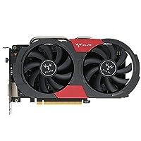 KKmoon Colorful NVIDIA GeForce GTX iGame 1050Ti Grafikkarte 4 GB 128bit Gaming 4096M GDDR5 PCI-E X16 3,0 Grafikkarte DVI + HDMI + DP Port mit zwei Lüfter