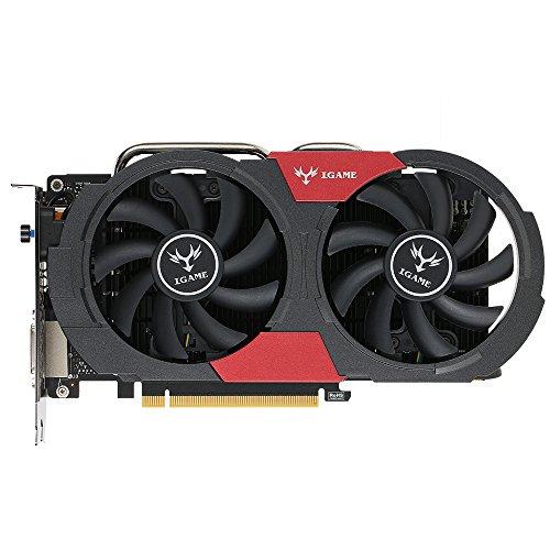 Colorful NVIDIA GeForce GTX iGame 1050Ti GPU 4GB 128 bit Gaming 4096M GDDR5 PCI-E, X16 3.0 Vdeo Scheda Grafica DVI + HDMI + di DP con Due Ventola di Raffreddamento