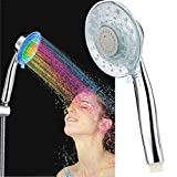 Shower Head Handheld LED 7 Color Changing Bathroom Spa Showerhead (A3)