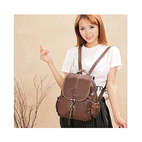 Lycailcy  LYC-Lycailcy-A09-20, Sac à main porté au dos pour femme Marron Magnetic Snap Light Brown(9.4 x 4.3 x 11 inches) Small(9.4 x 4.3 x 11 inches) Hook Dark Brown(9.4 x 4.3 x 11 inches)