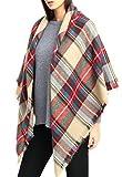 VLUNT Damen Winter klassische Schal lange weich Wraps grosse Schal Deckenschal Herbstschal Winterschal (Rot2)