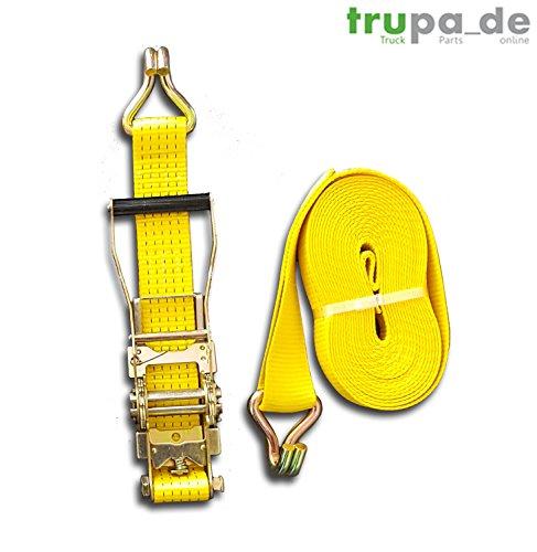 Preisvergleich Produktbild Spanngurt 5to 25m 50 mm / 2-teilig Ergo-Ratsche EN 12195-2 2500 / 5000 daN gelb
