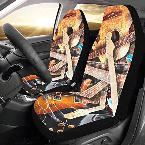 Zemivs Jazz Rock Cool E-Gitarre Für Jungen Benutzerdefinierte Universal Fit Auto Autositzbezüge Protector Für Frauen Automobil Jeep LKW SUV Fahrzeug Full Set Zubehör Für Erwachsene Baby Set Von 2