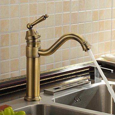 Piteng™ antique robinet évier salle de bain inspirée (finition laiton antique)