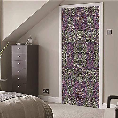 Adesivi murali 3d porta murale art (77x200cm) imitazione tappeto modello decalcomanie impermeabile in vinile fai da te home decor carta da parati per soggiorno camera da letto cucina decorazione