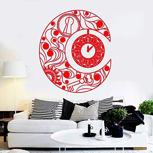 zhuziji El más Nuevo diseño de Vinilo calcomanía de Pared Media Luna símbolo símbolo sueño Dormitorio Interior Pared Decorativo Pegatina Sala de Estar Mura 888-3 56x63 cm