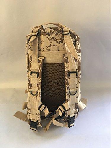 Gli sport outdoor multifunzionale zaino camouflage alpinismo escursionismo borsa zaino spalla 45*25*23cm, tre sabbia camouflage Colore di fango
