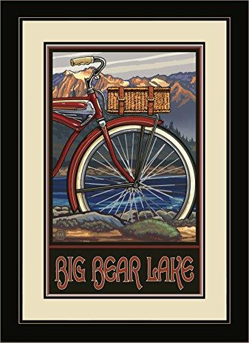 Northwest Art Mall pal-5346fgdm Windjacke Big Bear Lake California Fat Tire Bike gerahmtes Wandbild Art