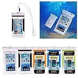 SHANGRUN Kamm Wasserdichte Handyhülle Wasserfeste Tasche( bis 5,5 Zoll) für Strand, Wandern, Outdoor (Schutz gegen Staub, Sand, Nässe / wasserdicht bis, Universal Wasserdicht Hulle Beutel Handyhulle Schutzhülle fur Apple iPhone 6 Plus, 6, 5S, 5C, 5; Galaxy S6,S6 Edge, S4, S3; MEIZU Mx4 Pro, Vivo x5 max, Huawei P8 Lite, HTC One X, Galaxy Note 4, Note 3,LG G4 etc. Schwarz