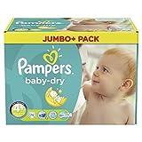 Pampers Baby Dry Größe 4+ Maxi Plus 9-–20kg Jumbo + Pack 76Windeln