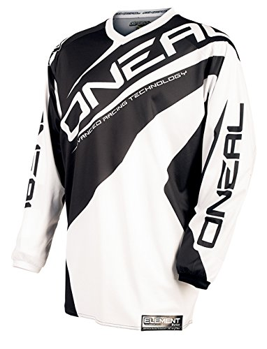 O'Neal Element Kinder Jersey RACEWEAR Weiß DH Mountain Bike Moto Cross Trikot Enduro MTB MX FR, 0025R-1, Größe Large (Bike-trikot Für Kinder)