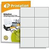 Universal Etiketten 800 Stk. 105 x 74 mm weiß selbstklebend bedruckbar - 100 A4 Bogen á 2x4 105x74 Aufkleber - 3427 4626