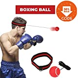 SGODDE Reflex Boxing Ball, Fight Ball Reflex on String with Headband for Fight MMA Training Speed Reactions Adult/Kids Improve Punch Focus Sport Exercise Practice Fitness