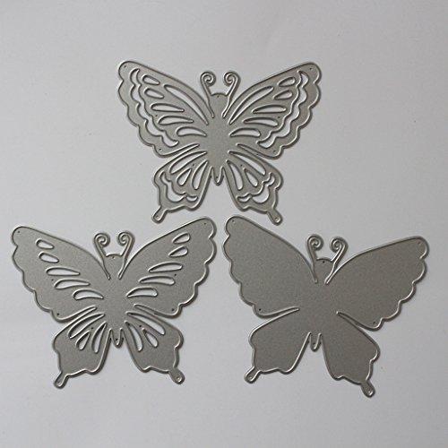 Lifet – Fustelle a Forma di Farfalla, per Scrapbooking, Album di Carta, Cartoline Artigianali, per Sizzix Big Shot/Cuttlebug/e Altre Macchine da Disegno - 3