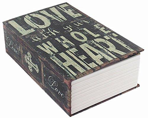 Handsome Dizionario libro segreto nascosto cassaforte con serratura a chiave libro Love Stile piccole dimensioni 18x 11,7x 5,6cm