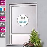 MOUSTIKIT P/EN4/10/16BVA Moustiquaire Enroulable, Aluminium, Blanc, Petit