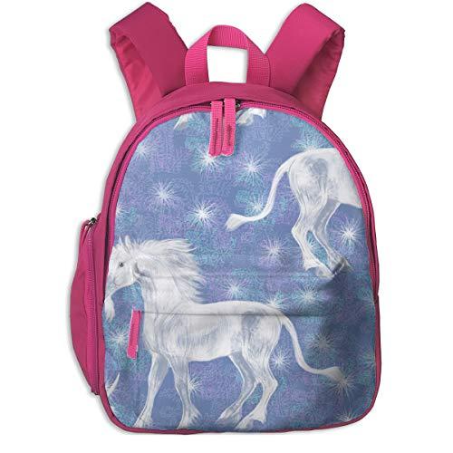 Kinderrucksack mädchen,Sparkly Unicorn_2561 - Eclectic_House, Für Kinderschulen Oxfordstoff (pink)