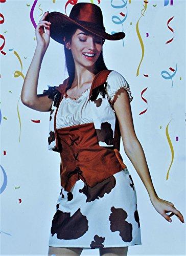 GmbH & Co. KG Damen-Kostüm Cowgirl, für Erwachsene, 3-Teilig, Größe M (40/42) (3 Teiliges Cowgirl Kostüme)