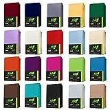 AR Line Jersey Spannbettlaken 100% Baumwolle für WASSERBETTEN/BOXSPRINGBETTEN 180x200-200x220 + 40 cm Steghöhe in Farbe: Anthrazit-Grau