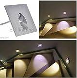 2x 1W LED Wandleuchte Einbauleuchte 230v Wandleuchte Treppenlicht Stufenbeleuchtung warmweiß