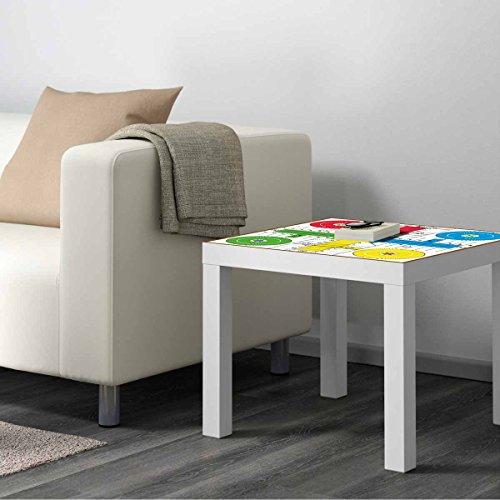 Vinilo Mesa IKEA Lack Personalizada Juego Parchis