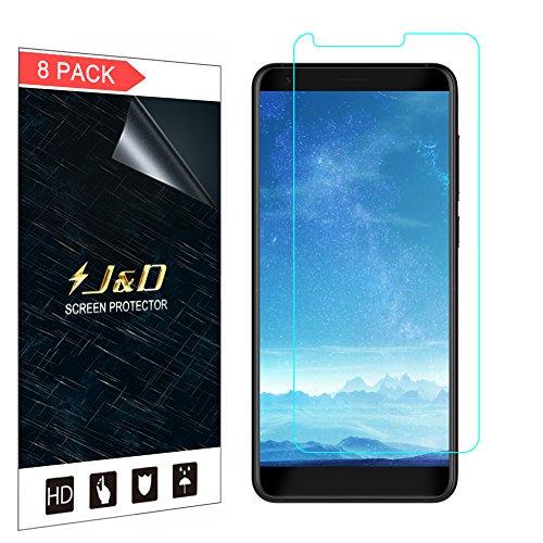 J & D [8er Set] ZTE Blade V9 Display Schutzfolie, [Ganze Deckung] Premium HD-Clear Schutzfolie für ZTE Blade V9