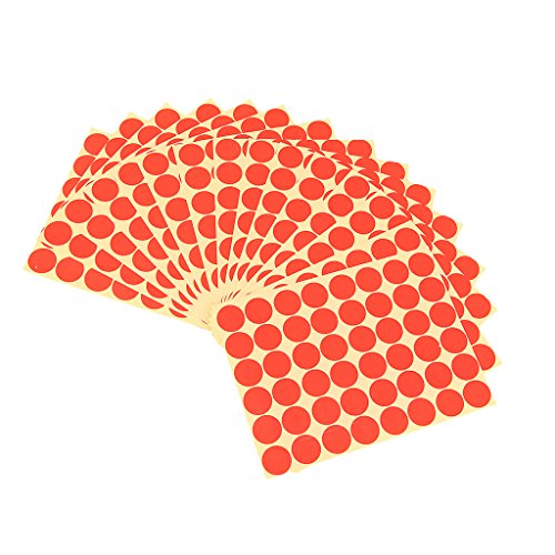Imported 720Pcs 25mm Dots Sticker Round Circle Blank Labels Self Adhesive- Red