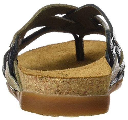 El Naturalista Damen Nf48 Soft Grain Zumaia T-Riemchen-Sandalen Mehrfarbig (Black Mixed)