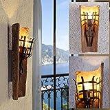 Lampada Parete E27 Torcia da Muro Lampada da parete 230V MAX max.60w dachziegelleuchte MEDITERRANEO ANTICO LUCE CON klosterziegel fiaccola per parete