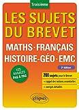 """Afficher """"Mathématiques, Français, Histoire-Géographie, EMC 3e"""""""