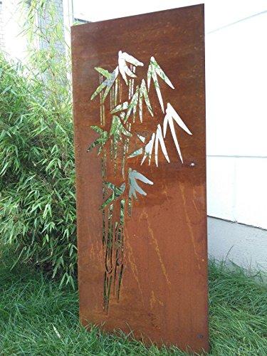 Garten Sichtschutz aus Metall Rost Gartenzaun Gartendeko edelrost Sichtschutzwand 031664 150*75*2CM