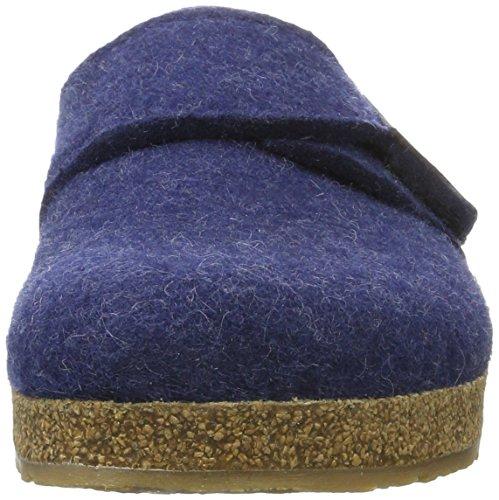 Pantofole Haflinger Unisex Adulto Grizzly Ole Blu (jeans)