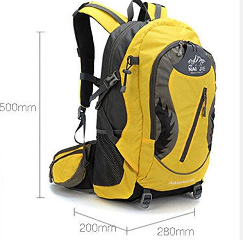 Großvolumige Im Freien Bergsteigen Taschen Reisen Schulter Bewegung Yellow