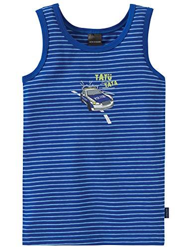 Schiesser Jungen Polizei Hemd 0/0 Unterhemd, Blau 800, (Herstellergröße: 116)