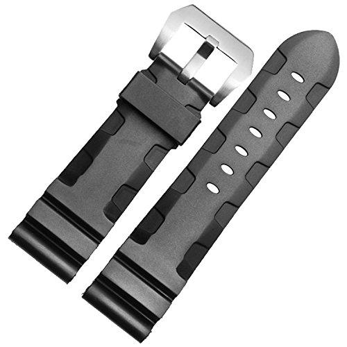 nuevo-24-mm-negro-diver-de-caucho-de-silicona-watch-band-correa-hebilla-fit-panerai-pam111