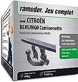 Rameder Attelage rotule démontable pour CITROËN BERLINGO Camionnette + Faisceau 7...