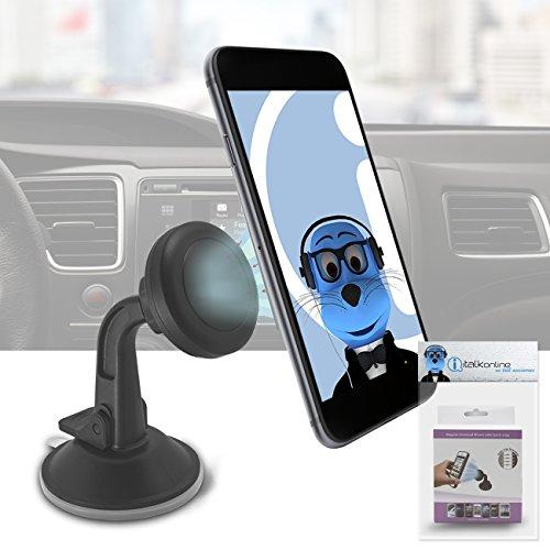 iTALKonline Magnetische Cradle-Less Case-kompatiblen Auto Halterung Windschutzscheibe Armaturenbrett für Alcatel One Touch Star