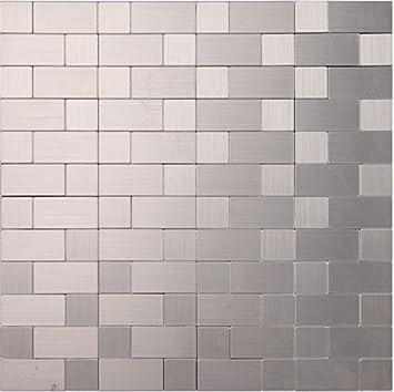 Holzmuster Metall Fliesen Aufkleber, Aluminium Kunststoff Panel Selbst Mosaik  Fliesen Aufkleber, 12 X 12/Sheet, Self Stick Mosaik Fliesen Für Haus Wand,  ...